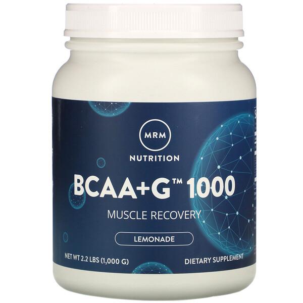 BCAA+G 1000, со вкусом лимонада, 1000 г (2,2 фунта)