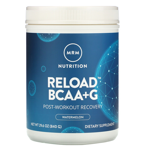 Reload BCAA+G, Post-Workout Recovery, Watermelon, 29.6 oz (840 g)