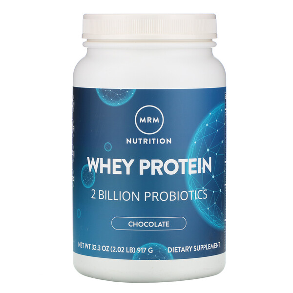 Whey Protein, 2 Billion Probiotics, Chocolate, 2.02 lbs (917 g)