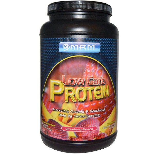 MRM, Low Carb Protein, Strawberry-Banana, 1.784 lbs (810 g) (Discontinued Item)