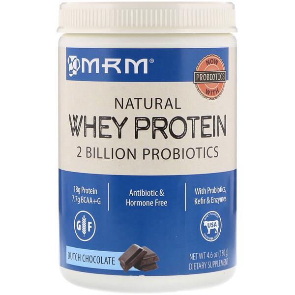 Натуральный сывороточный протеин, голландский шоколад, 4,6 унц. (130 г)