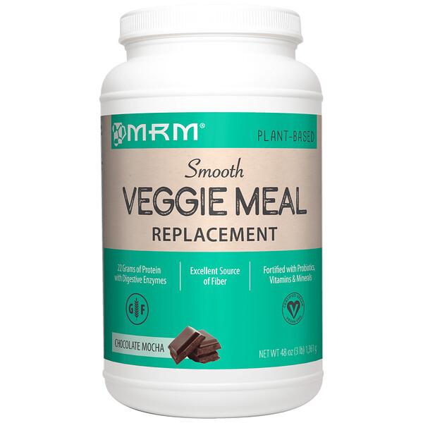MRM, Вегетарианский заменитель пищи, шоколадное мокко, 3 фунта (1361 г) (Discontinued Item)
