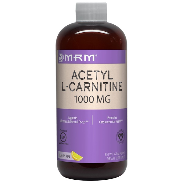 MRM, Ацетил-L-карнитин, лимонад, 1000 мг, 480 мл (16 жидких унций)