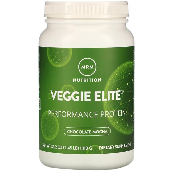 Veggie Elite, протеин для повышения продуктивности, мокко с шоколадом, 1110 г (2,45 унции)