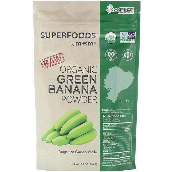 MRM, Порошок необработанного органического зеленого банана, 240г (8,5унции)