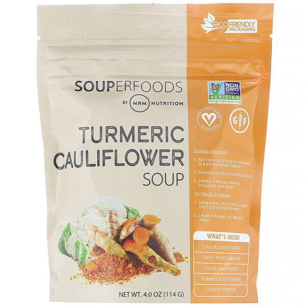 Суперпродукты, суп из цветной капусты с добавлением куркумы, 114г (4,0унции)