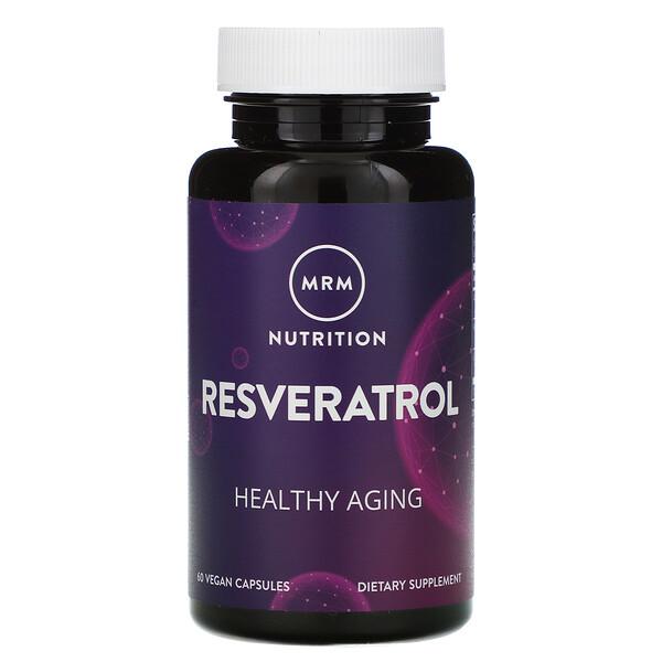 MRM, Nutrition, ресвератрол, 60веганских капсул