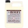 Mrs. Meyers Clean Day, Запасной блок жидкого мыла для рук, с запахом лаванды, 33 жидкие унции (975 мл)