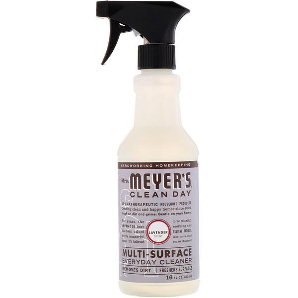 Средство для очищения различного рода поверхностей, с запахом лаванды, 16 жидких унций (473 мл)