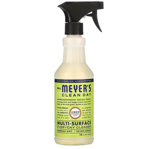 Средство для очищения различного рода поверхностей, с запахом лимонной вербены, 16 жидких унций (473 мл)