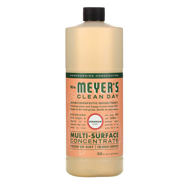 Mrs. Meyers Clean Day, Multi-Surface Concentrate, Geranium, 32 fl oz (946 ml)