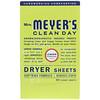 Mrs. Meyers Clean Day, Антистатические салфетки, аромат вербены, 80 шт.