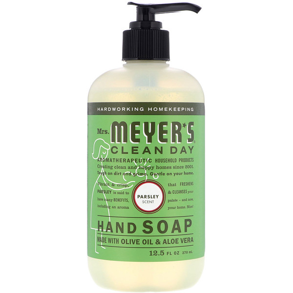 Mrs. Meyers Clean Day, Hand Soap, Parsley Scent, 12.5 fl oz (370 ml) (Discontinued Item)