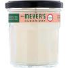 Mrs. Meyers Clean Day, Ароматизированная соевая свеча, с запахом герани, 204г
