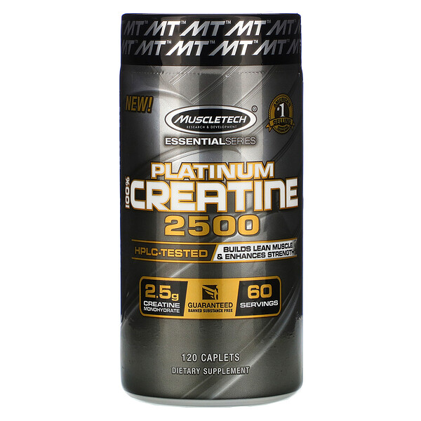 Essential Series, Platinum 100% Creatine 2500, 120 Caplets