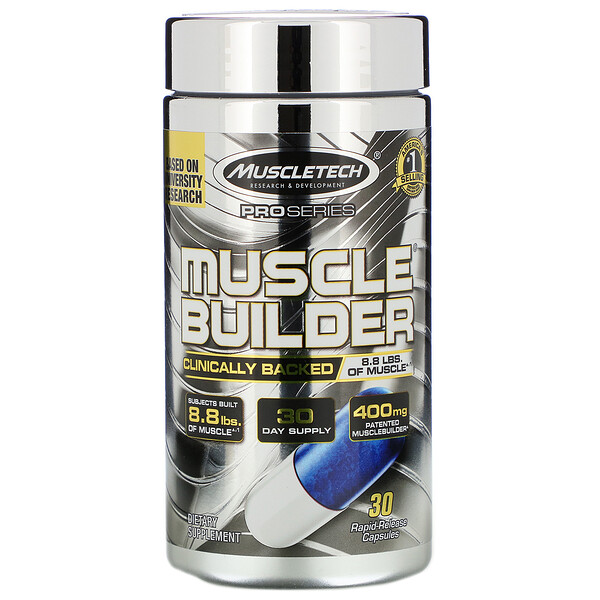Pro Series, Muscle Builder, 30капсул с быстрым высвобождением