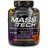 Muscletech, Mass-Tech, превосходный гейнер для набора мышечной массы, протеиновый порошок со вкусом молочного шоколада, 3,18кг (7фунтов)