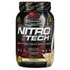 Muscletech, Nitro Tech, сывороточный изолят + смесь для роста сухой мышечной массы, ванильный вкус, 907г (2фунта)