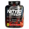 Muscletech, серия Performance, NitroTech, основной источник сывороточных пептидов и изолятов, клубничный вкус, 1,81кг (4фунта)