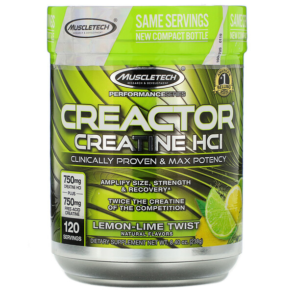 Performance Series, CREACTOR, Creatine HCI, Lemon-Lime Twist, 8.40 oz (238 g)