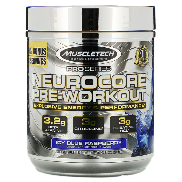 Pro Series, Neurocore Pre-Workout, замороженная голубая малина, 229г (8,08унции)