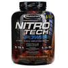 Muscletech, Nitro Tech Power, порошок сывороточного протеина для увеличения мышц, тройной шоколад, 1,81кг (4,00фунта)