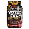 Muscletech, Nitro Tech, 100% Whey Gold, со вкусом клубники, 999г (2,20фунта)