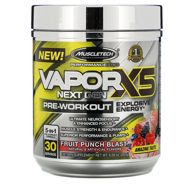 VaporX5, Next Gen, предтренировочная добавка, фрукты, 263г (9,28унции)