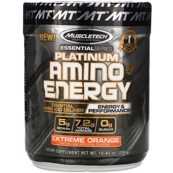 Platinum Amino Plus Energy, насыщенный апельсин, 295г