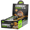 MusclePharm, Combat Crunch, двойная начинка с песочным тестом, 12 батончиков по 2,22 унц. (63 г)