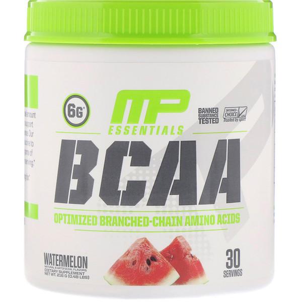 Серия Essentials, аминокислоты с разветвленной цепью (BCAA), арбуз, 216 г (0,48 фунта)
