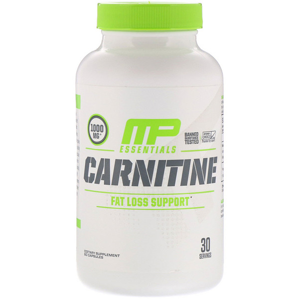 Карнитин, поддержка в борьбе с лишним жиром, 60капсул