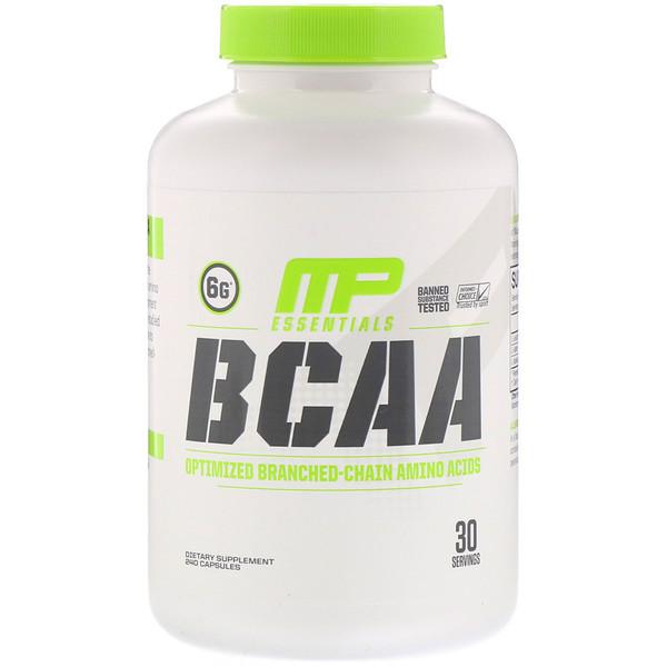 Essentials, BCAA (аминокислоты с разветвленной цепью), 240капсул