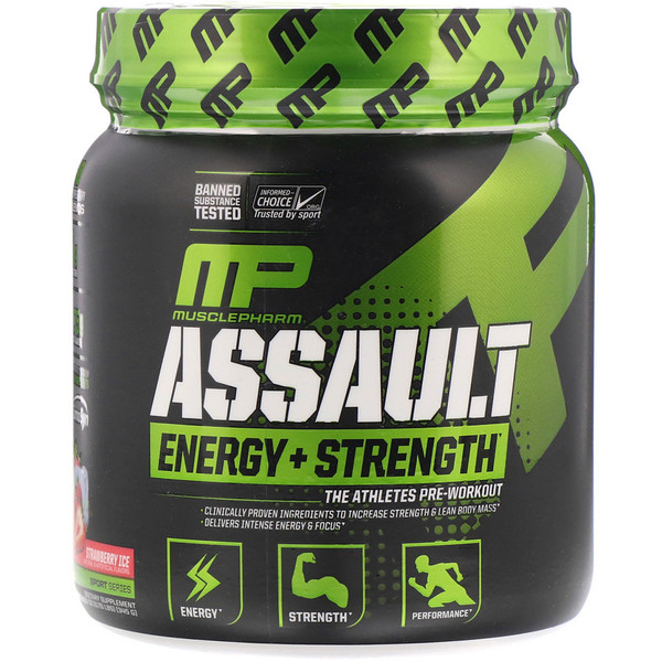 Assault Energy & Strength, Strawberry Ice 12.17 oz (0.76 lbs) (345 g)