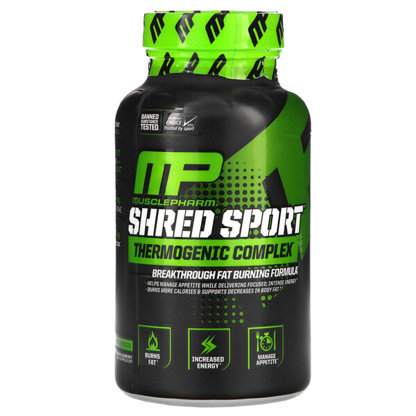 Shred Sport, термогенный комплекс, 60 капсул