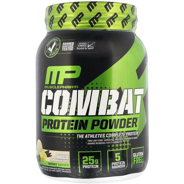 Combat Protein Powder, белковый порошок со вкусом ванили, 907 г (2 фунта)