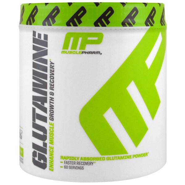 MusclePharm, Глутамин, рост и восстановление, серия Core, 0,661 фунта (300 г) (Discontinued Item)