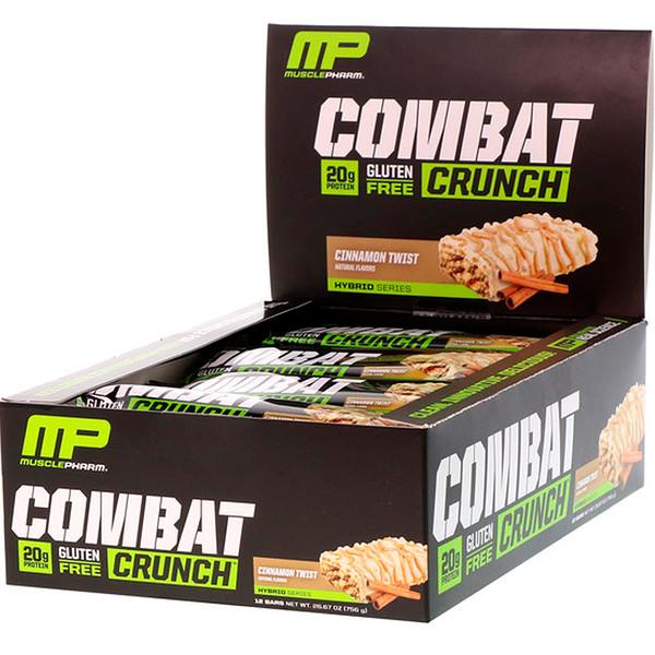 Combat Crunch, корица, 12 батончиков, 63 г каждый
