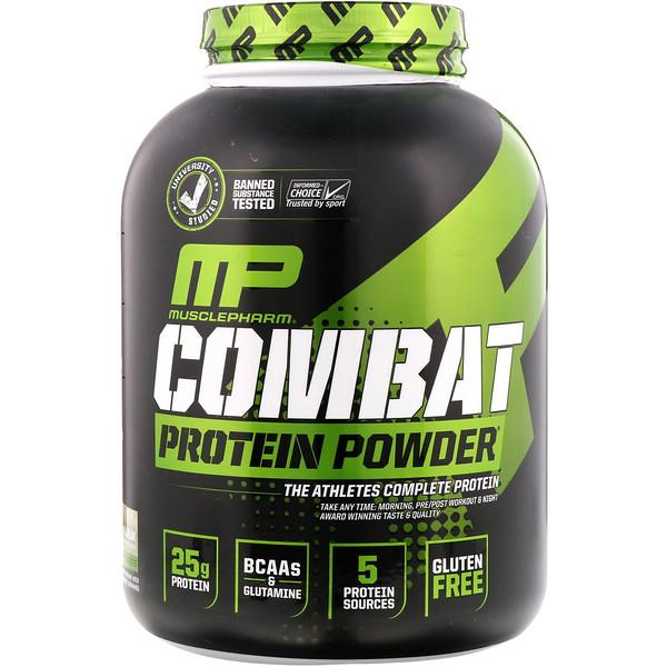 MusclePharm, Combat Protein Powder, печенье с кремовой начинкой, 2275г (5фунтов) (Discontinued Item)