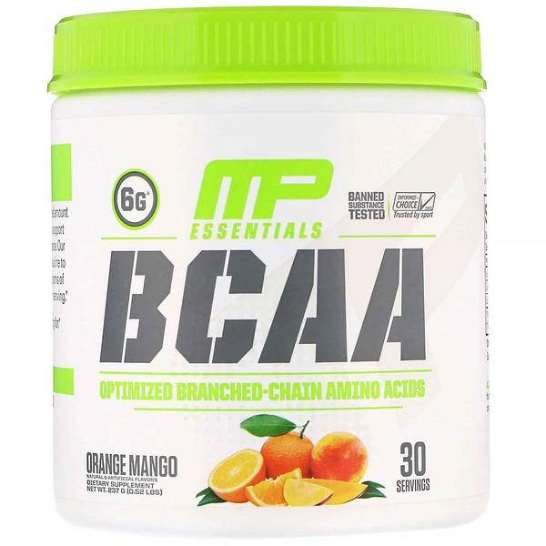 MusclePharm, Essentials, BCAA, апельсин и манго, 237 г (0,52 фунта)