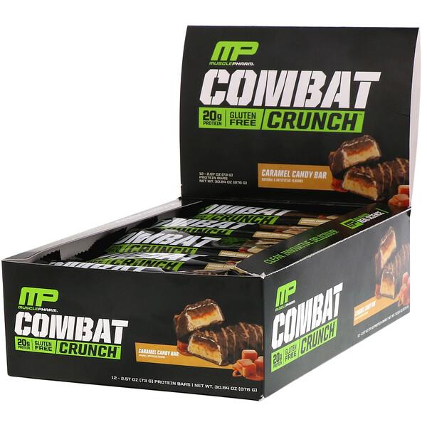 Combat Crunch, Caramel Candy Bar, 12 Bars, 2.57 oz (73 g)