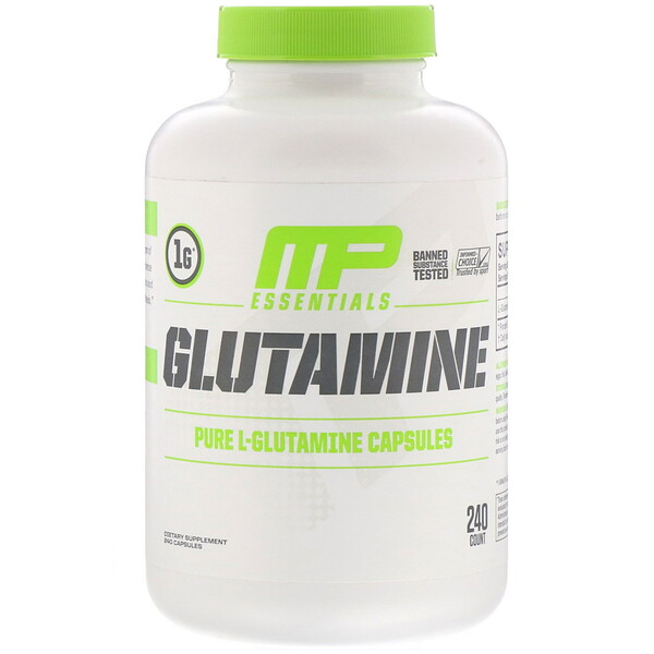 Essentials, Glutamine, 240 Capsules