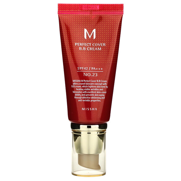 Missha, Perfect Cover BB Cream, BB-крем, SPF42 PA+++, оттенок №23 натуральный бежевый, 50мл (Discontinued Item)