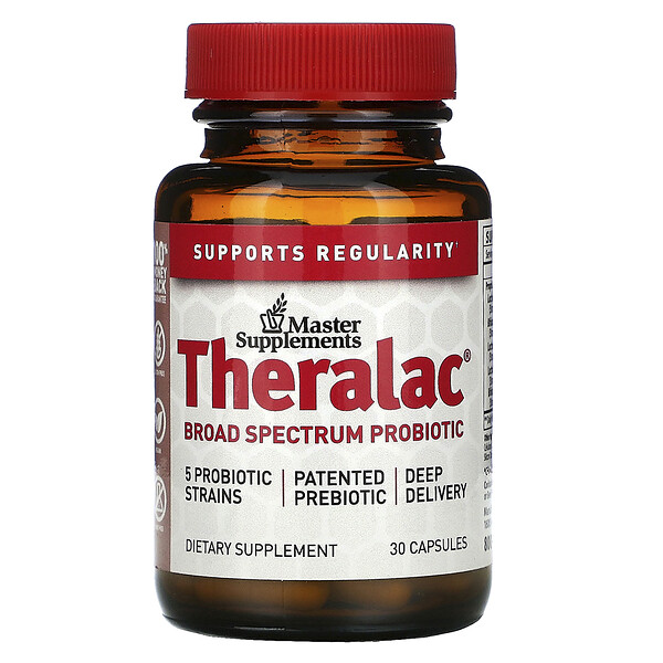 Master Supplements, Theralac, Broad Spectrum Probiotic, 30 Capsules