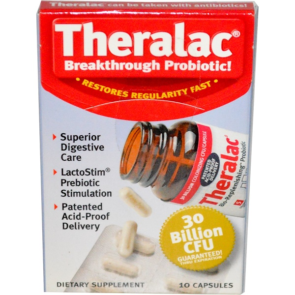 Master Supplements, Theralac, Breakthrough Probiotic!, 10 Capsules (Ice) (Discontinued Item)