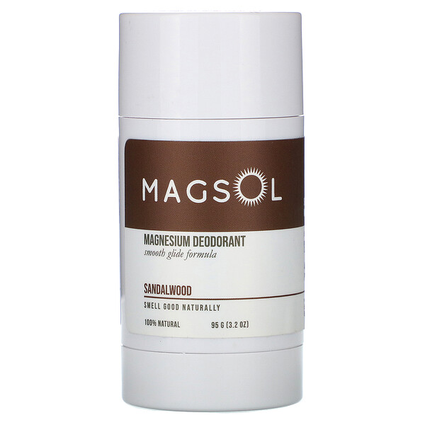 Magnesium Deodorant, Sandalwood, 3.2 oz (95 g)