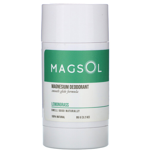 Magnesium Deodorant, Lemongrass, 3.2 oz (95 g)