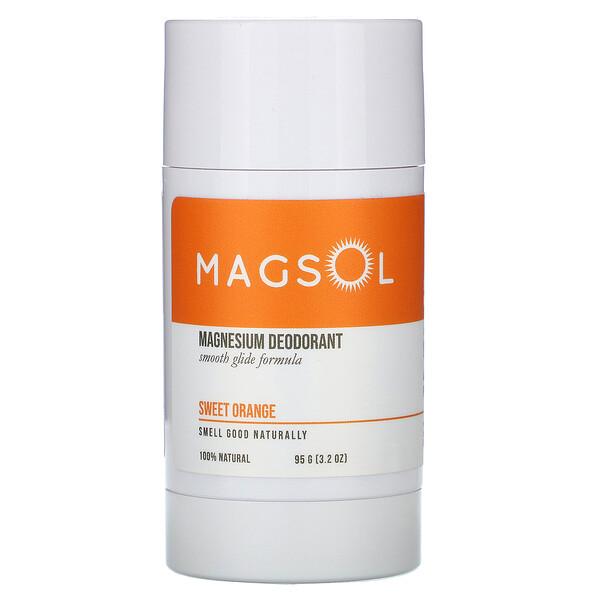 Magnesium Deodorant, Sweet Orange,  3.2 oz (95 g)