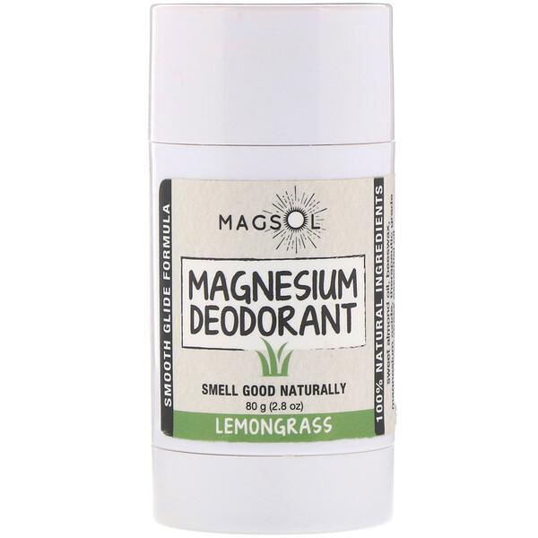 Дезодорант с магнием, лемонграсс, 80г