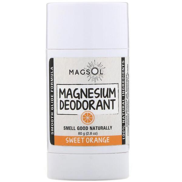 Magsol, Дезодорант с магнием, сладкий апельсин, 80г (Discontinued Item)